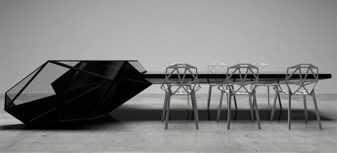 Столы в стиле хайтек