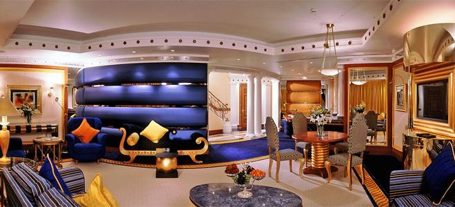 Необычные залы отеля BURJ AL ARAB