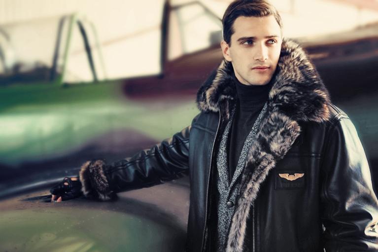 Летная кожаная куртка