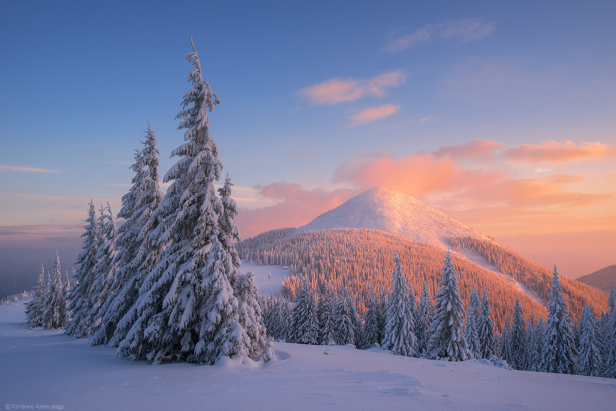 Карпаты зимой. Красота природы